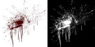 Circulações sanguíneas em uma parede branca Ilustração de Digitas com o resíduo metálico alfa a compor rendição 3d ilustração stock