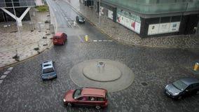 Circulación del cruce giratorio de Blackpool almacen de video