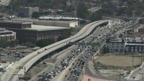 Circulación densa en Los Ángeles céntrico almacen de metraje de vídeo