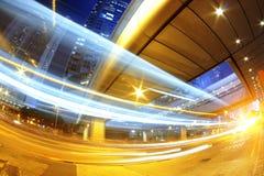 Circulación rápida de la ciudad moderna de Hong-Kong foto de archivo libre de regalías
