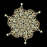 Circulaire calligraphique de lettrage de style de mandala de Joyeux Noël dedans Photo libre de droits