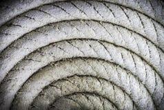 Circulaire en spirale de vieille corde nautique photo libre de droits