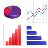 Circulaire et colonne linéaires d'infographics de graphiques de gestion Images libres de droits