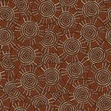 Circulaire, modèle tribal avec des motifs des tribus africaines Surma et Mursi Photos stock