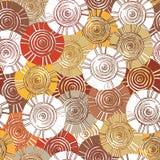 Circulaire, modèle tribal avec des motifs des tribus africaines Surma et Mursi Photographie stock libre de droits