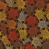 Circulaire, modèle tribal avec des motifs des tribus africaines Surma et Mursi Illustration Libre de Droits