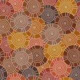 Circulaire, modèle tribal avec des motifs des tribus africaines Surma et Mursi illustration stock