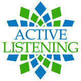 Circulaire vert-bleu de écoute d'Active Photographie stock libre de droits