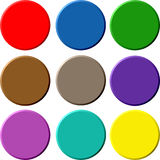 Circular 3D buttons Royalty Free Stock Photo