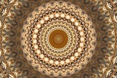 Abstract ancient ornament in brown, mandala, kaleidoscope Stock Photos