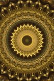 Abstract ancient ornament in brown, mandala, kaleidoscope Stock Photo