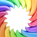 Circular abstract frame made of wavy elements Royalty Free Stock Photo