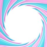 Circular abstract frame made of wavy elements Royalty Free Stock Photo