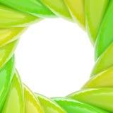 Circular abstract frame made of wavy elements Stock Photo