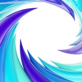 Circular abstract frame made of wavy elements Royalty Free Stock Photography
