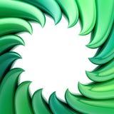 Circular abstract frame made of wavy elements Royalty Free Stock Image
