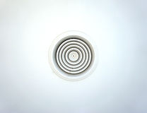 Circular air ventilation duct on the ceiling in white Royalty Free Stock Images