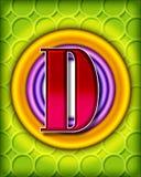 Circular alphabet - D Royalty Free Stock Image