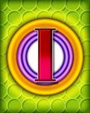 Circular alphabet - I Stock Image