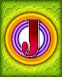 Circular alphabet - J Stock Images