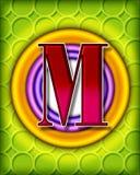 Circular alphabet - M Stock Image