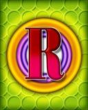 Circular alphabet - R Stock Photography