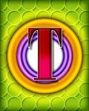 Circular alphabet - T Royalty Free Stock Image