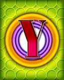 Circular alphabet - y Stock Photo
