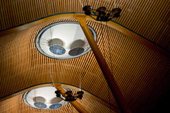 Ceiling structure in Barajas airport Stock Image