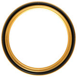 Circular antique picture frame. Isolated illustration of a circular Georgian picture frame Stock Photography