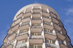 Circular apartment house Stock Photo