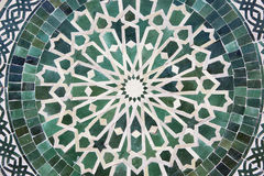 Circular arabian table. Made in a moroccan factory Royalty Free Stock Images