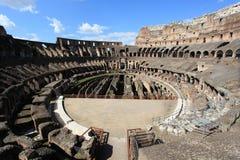 Circular arena of Colosseum Stock Photography