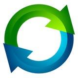Circular arrow, circle arrow icon. Rotation, restart, twist, tur Stock Photography