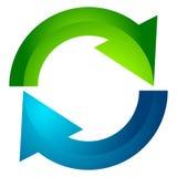 Circular arrow, circle arrow icon. Rotation, restart, twist, tur Stock Image