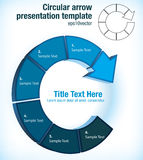 Circular arrow presentation template Stock Photos