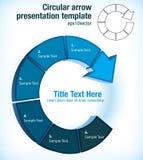 Circular arrow presentation template