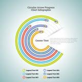 Circular Arrow Progress Chart Infographic Royalty Free Stock Photo