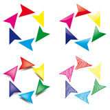 Circular arrows Stock Photos