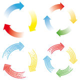 Circular arrows Stock Photography