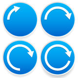Circular arrows, 1/4, 1/2, 3/4 and full circles - Blue arrow sig Royalty Free Stock Image