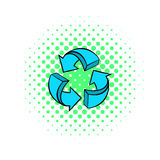 Circular arrows icon, comics style Royalty Free Stock Photo