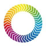 Circular Arrows Rainbow Gradient Icon Royalty Free Stock Photography