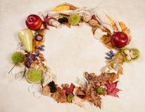 Circular Autumn border Stock Images
