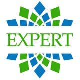 Circular azulverde experta Imagenes de archivo