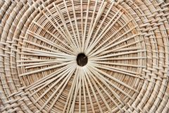 Circular background of rattan texture Stock Images