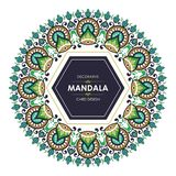 Circular Banner with stylish Mandala decorative design royalty free illustration