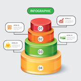 Circular bar infographic template Royalty Free Stock Images