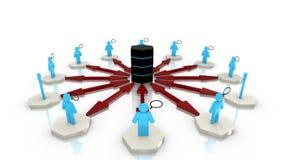 Circular big data network Stock Photos