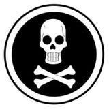 Circular black. Signal indicating danger of death Stock Photo